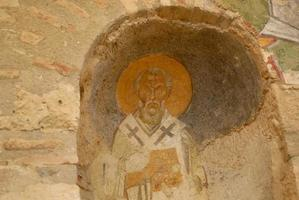 fresco - saint nicholas of myra foto