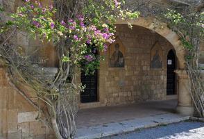 freskomalerier i ialyssos kloster Rhodos foto