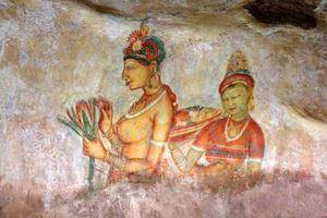fresker på lejonrock, sigiriya foto