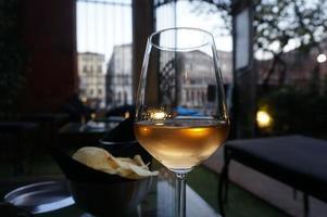 al fresco glas vin, Venedig foto