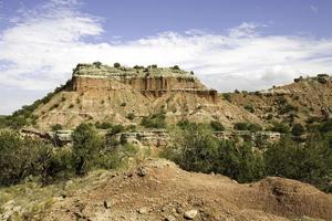 bergformation vid Palo Duro Canyon foto