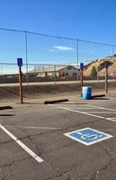 parkeringsplats för fiskekåka foto