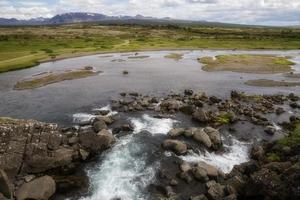 vattenfall och flod foto