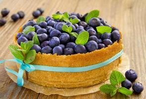 ostkaka med blåbär.