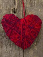 hjärta gjord av trådar foto