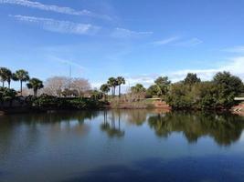 reflektioner över en sjö foto