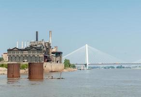 St Louis, arkitektur, flod och broar missouri, USA. stan foto