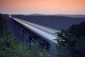 ny River Gorge Bridge - västra Virginia foto