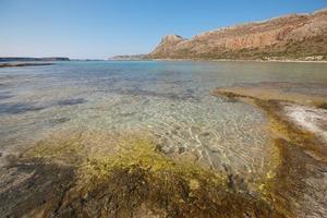 balosstrand på gramvousa halvön. crete. grekland foto