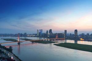 utsikt över Nanchang, Jiangxi-floden foto