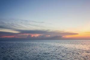 solnedgång till sjöss, Koh Phangan, Surat thani, Thailand foto