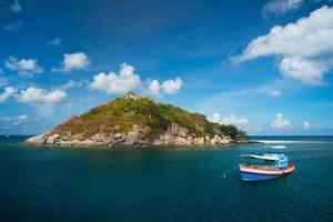 Koh Tao vacker tropisk strand, Nang Yuan Island i Thailand foto