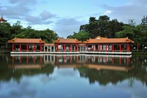 kinesisk trädgård i singapore foto