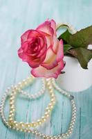 vykort med eleganta blommor
