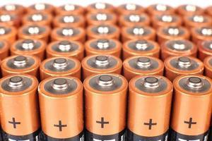 guldbatterier i rader foto
