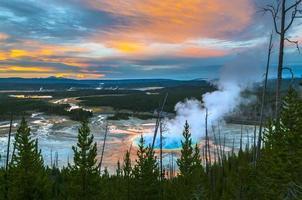 grand prismatic geyser ovanifrån