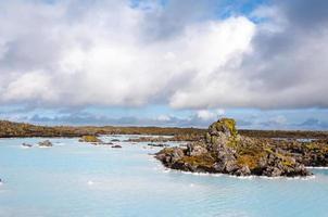 blå lagun - berömda isländska spa foto
