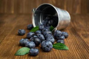 blåbär i liten hink foto