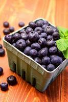 färska plockade ekologiska blåbär foto