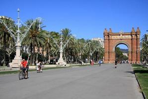arc de triomf, barcelona, catalunya, spanien foto