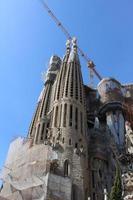 sagrada familia basilica, barcelona, spanien foto