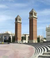 venetianska torn i barcelona foto