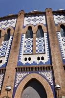 detalj av den monumentala tjurfäktningsarenan i Barcelona. foto