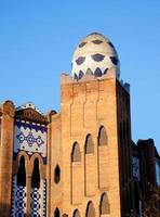 barcelona tjurfäktning la monumentala mosaikägg foto