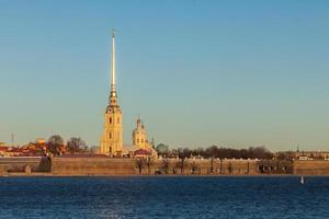 Peter och Paul fästning i St. petersburg, ryssland foto
