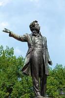berömd poet alexander pushkin staty, saint petersburg foto