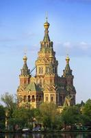Ryssland, Peterhof kyrkan St. Peter och Paul foto