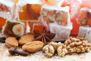 efterrätt. turkiska, arabiska godis. foto