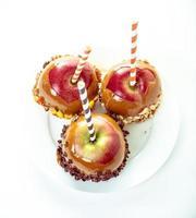 kanderade äpplen foto