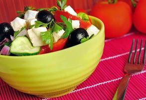 skål med sallad foto