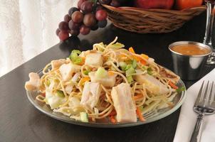 thailändsk kycklingsallad foto