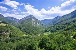 bergslandskap, montenegro