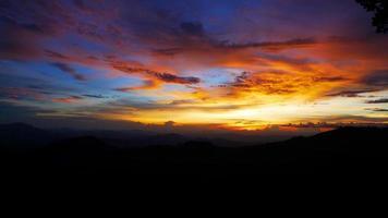 solnedgång himmel bakgrunder, landskap foto