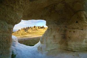 landskap av cappadocia, Turkiet foto