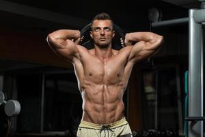 triceps träning med vikt foto