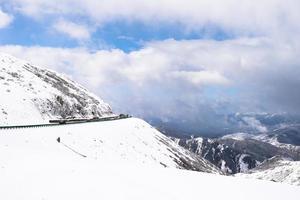 snöig landskap