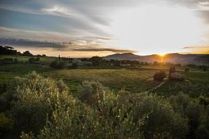 landskap i Toscana, Italien