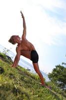 yogaklass utomhus foto