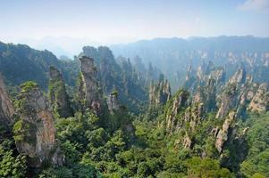 bergslandskap i Kina foto