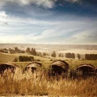 sommarlandskap på landsbygden foto