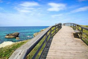 pittoreska landskap med bro. Spanien foto