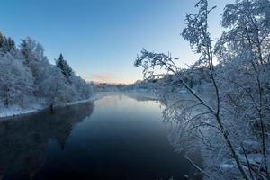 blå vinter foto