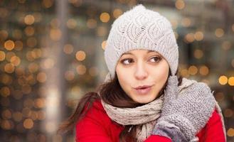 vinter flicka foto