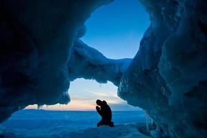 vinter sjö Huron