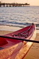 tidig morgon strand kajak