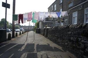 hängande tvätt, england foto